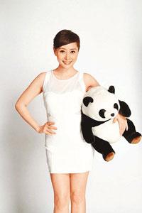 汤盈盈正式宣布踢走熊猫身材重拾苗条自信。