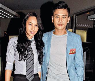 徐子珊(左)在新剧中饰演女同志,最后却情归黄宗泽。