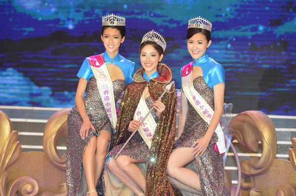 冠军陈凯琳(中) 冠军陈凯琳(左) 季军刘佩玥(右)